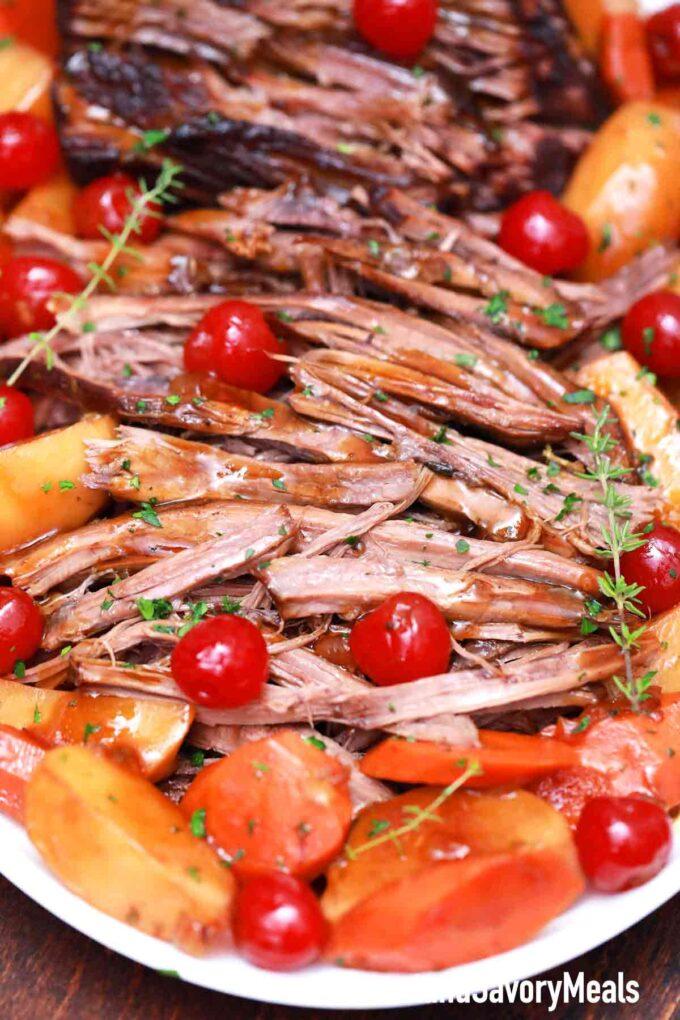 Dr. pepper pot roast with potatoes