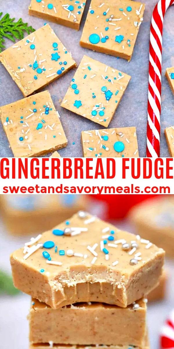 easy gingerbread fudge pin