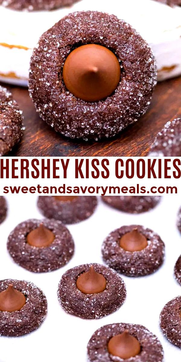 easy hershey kiss cookies pin