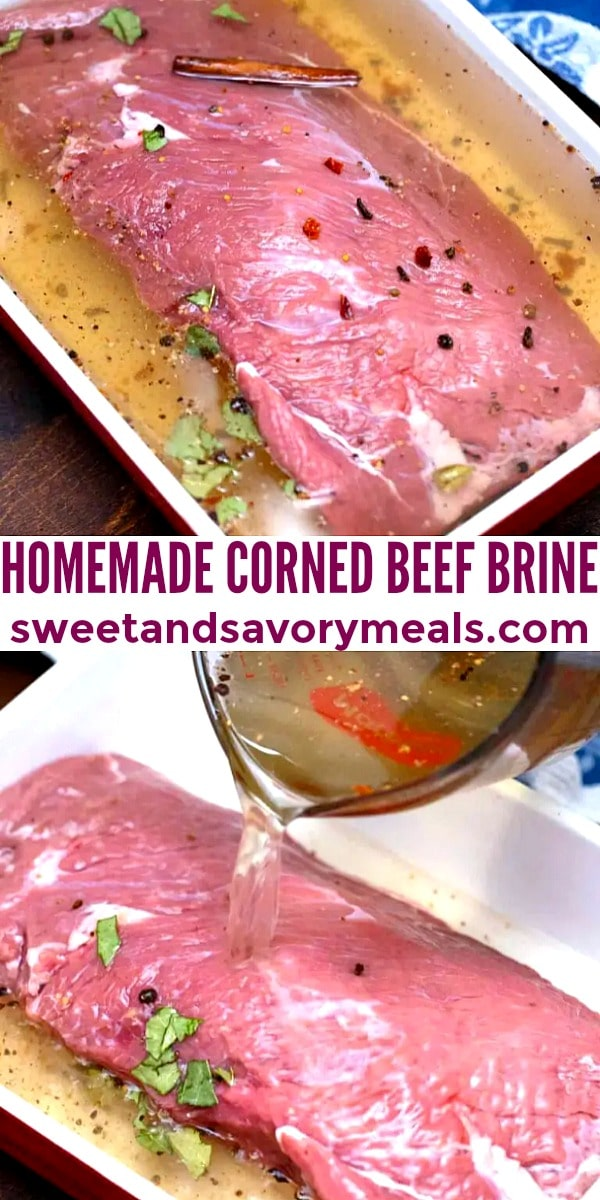 easy homemade corned beef brine pin