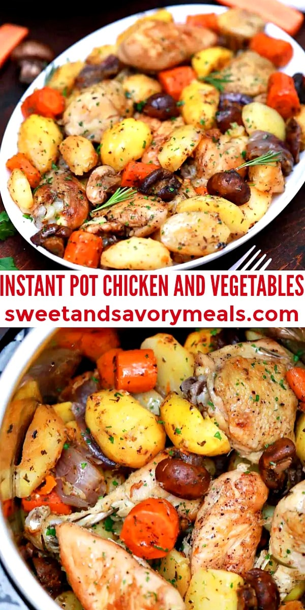 easy instant pot chicken and vegetables pin