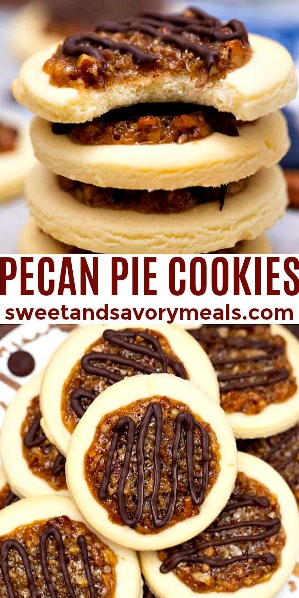 easy pecan pie cookies pin