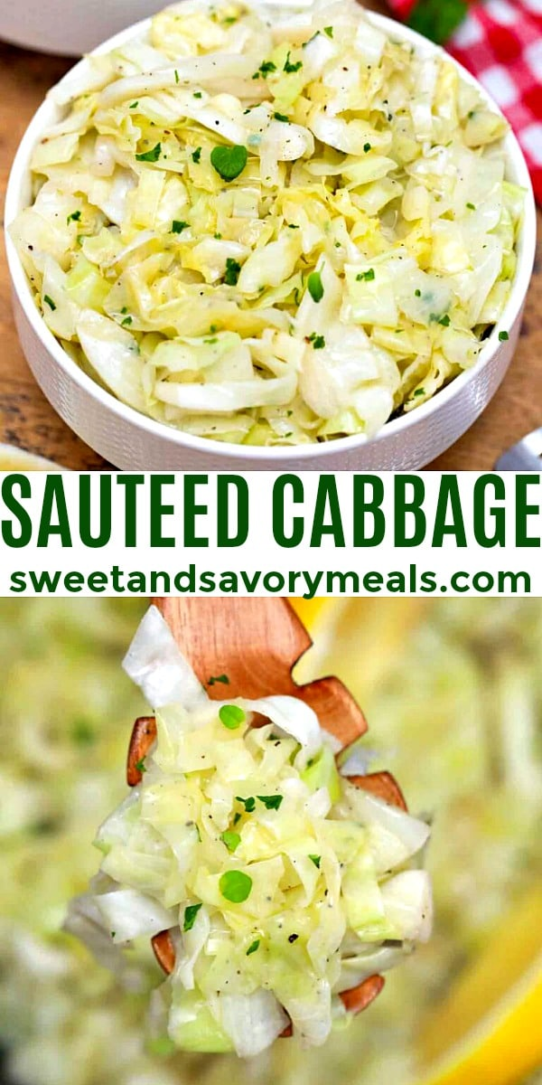 easy sauteed cabbage pin