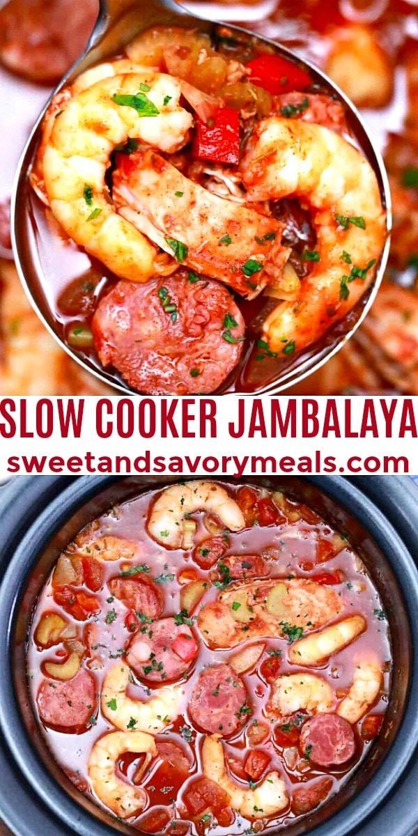 easy slow cooker jambalaya pin