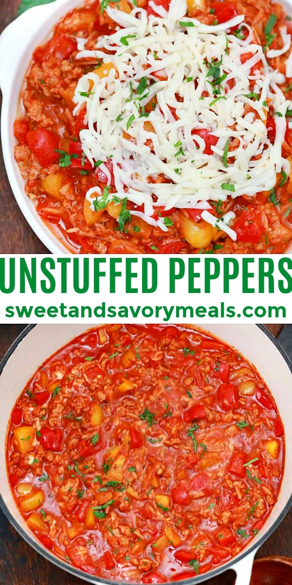 easy unstuffed peppers pin