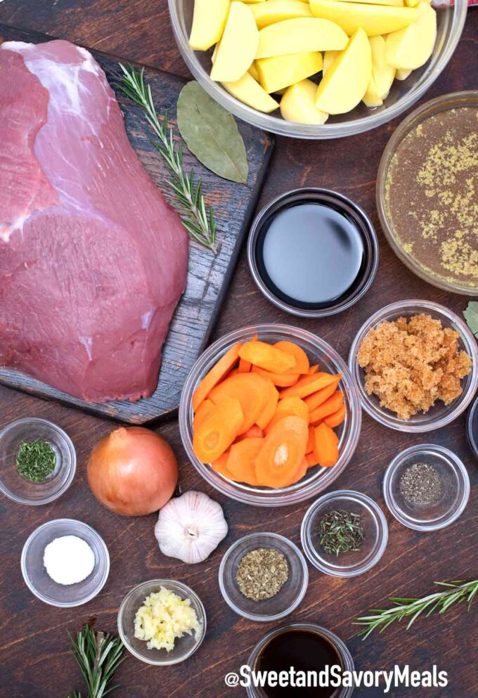balsamic pot roast ingredients