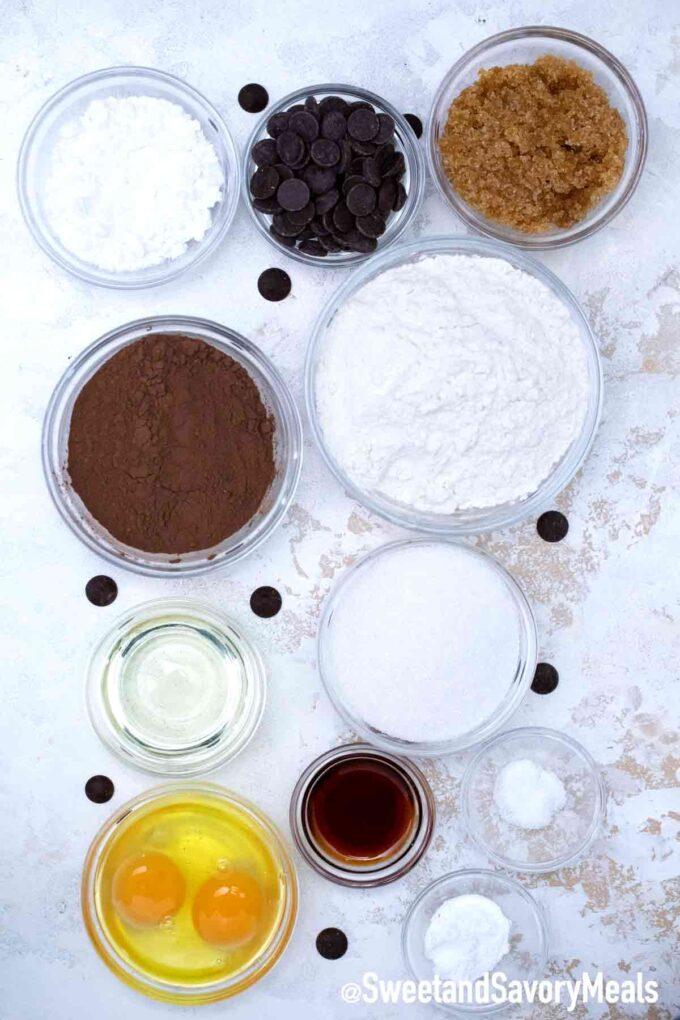chocolate crinkle cookies ingredients