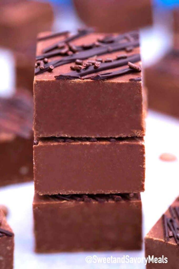 Schokoladenfondant mit Streuseln
