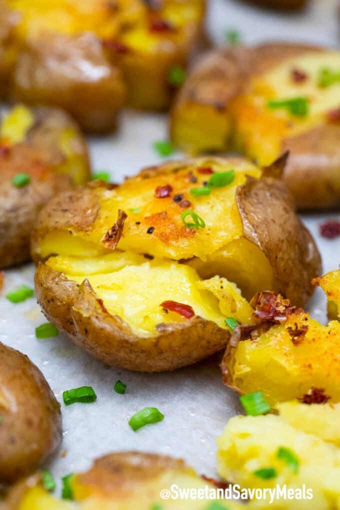 smashed potato