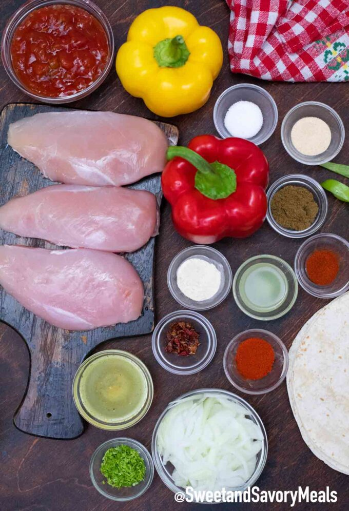 crockpot chicken fajitas ingredients