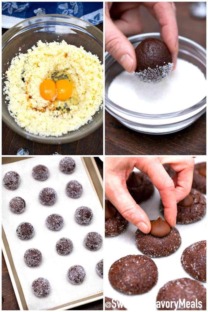 steeps how to make chocolate Hershey kiss cookies