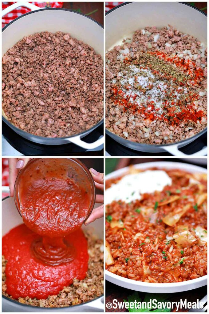steps how to make unstuffed cabbage rolls