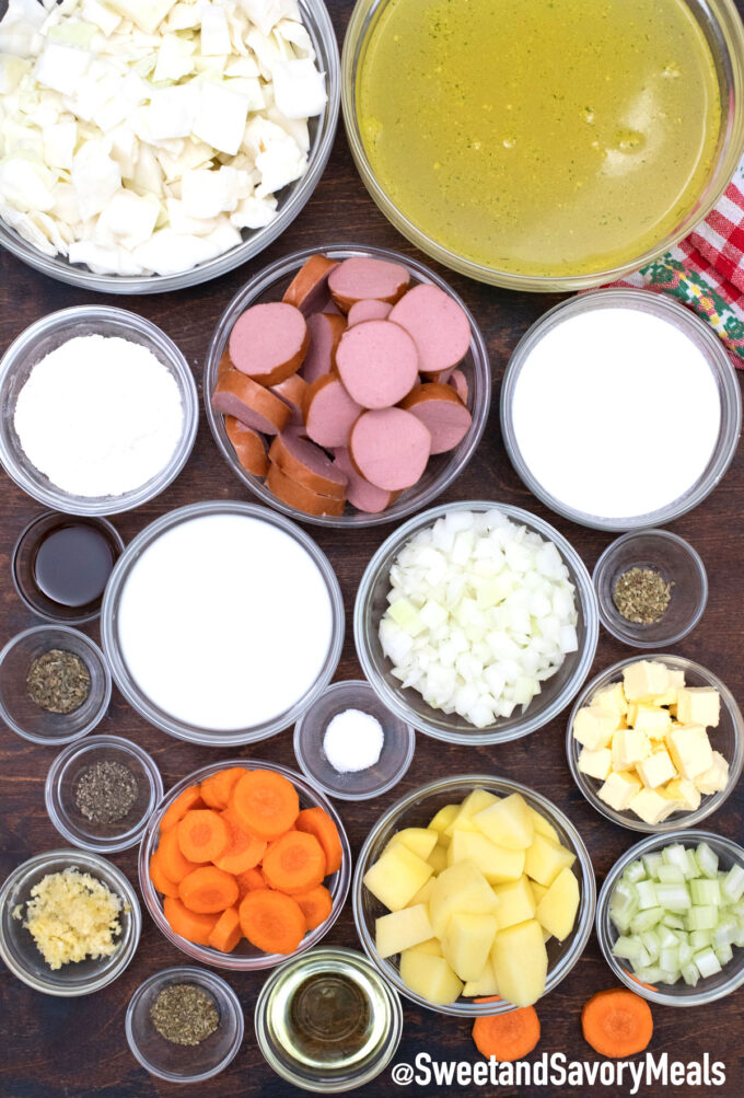 sausage and cabbage soup ingredients