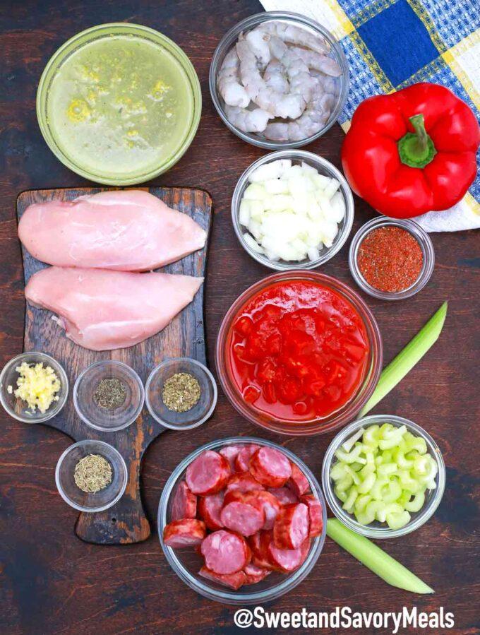 slow cooker jambalaya ingredients