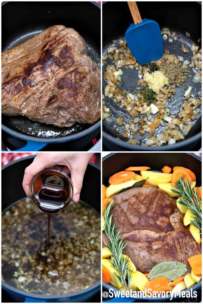 steps to make balsamic pot roast
