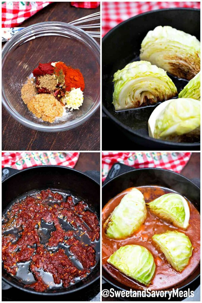 steps how to make caramelized cabbage