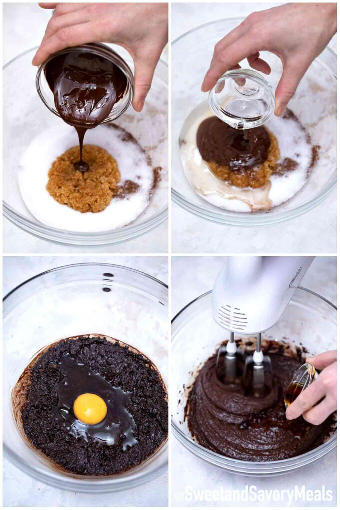 steps how to make chocolate crinkle cookies