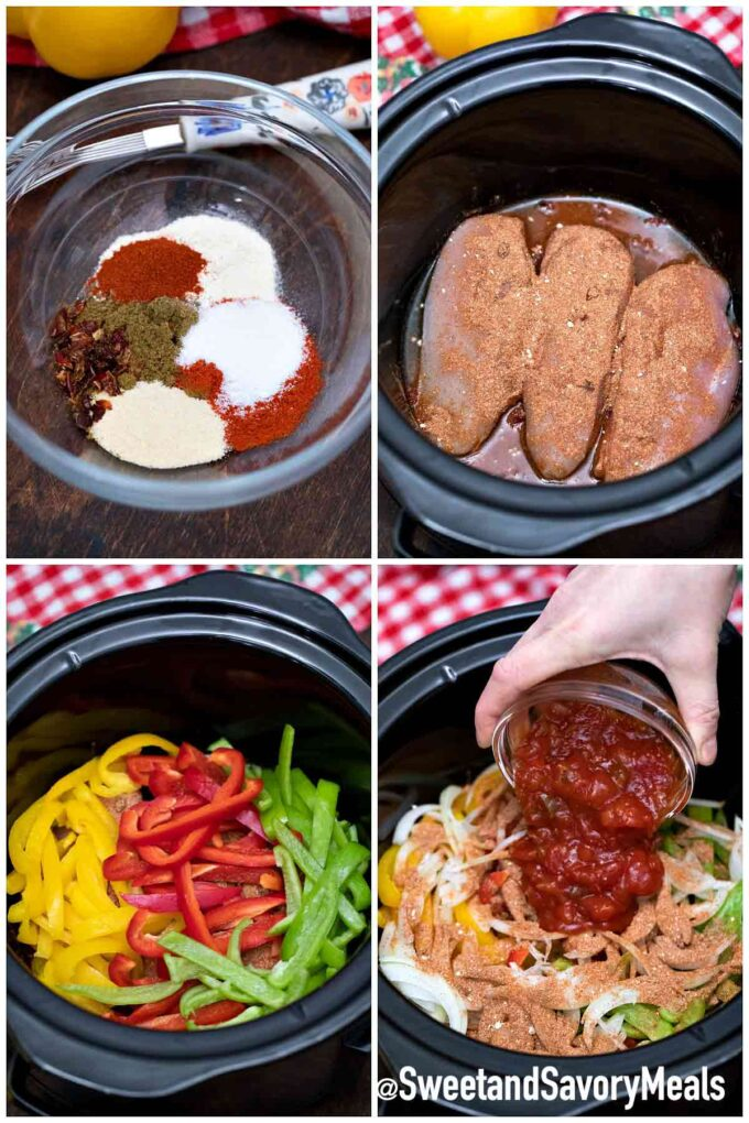 steps how to make crockpot chicken fajitas