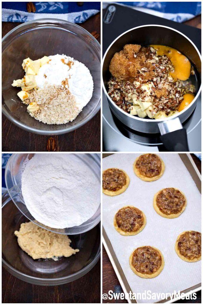 steps how to make pecan pie cookies