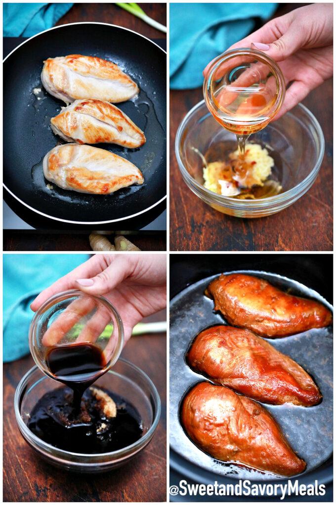 steps how to make slow cooker chicken teriyaki