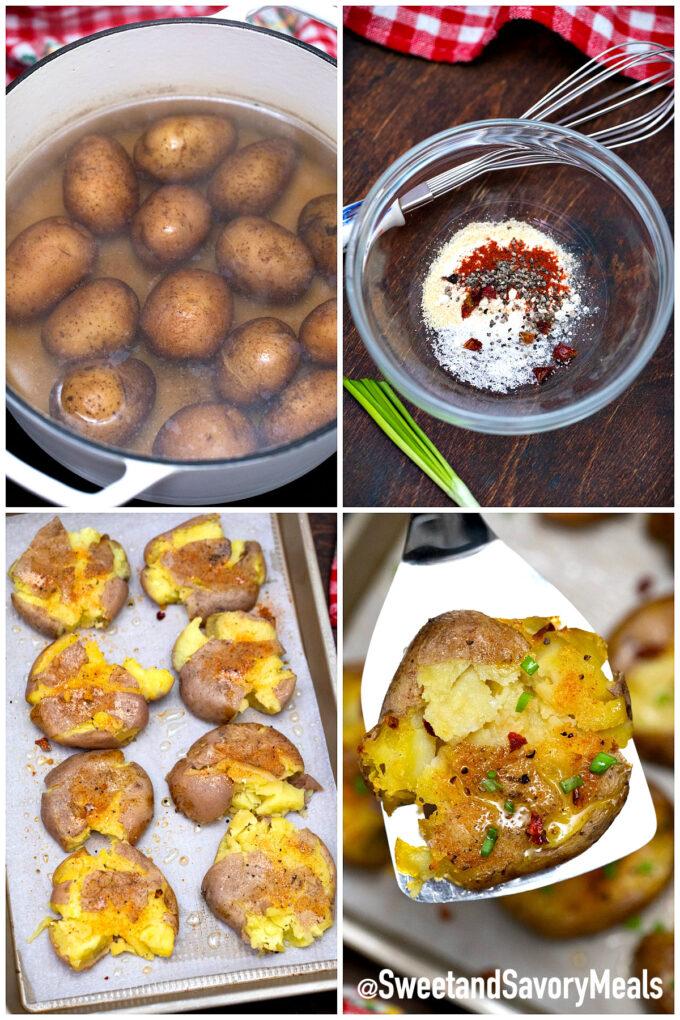 steps how to make smashed potatoes
