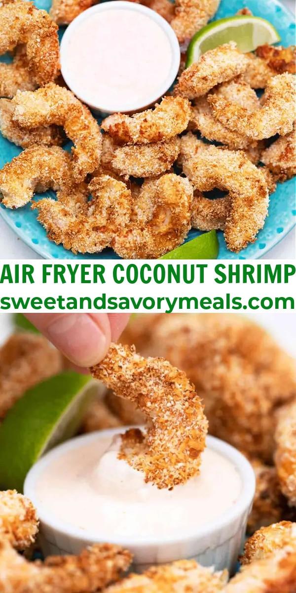 easy air fryer coconut shrimp pin