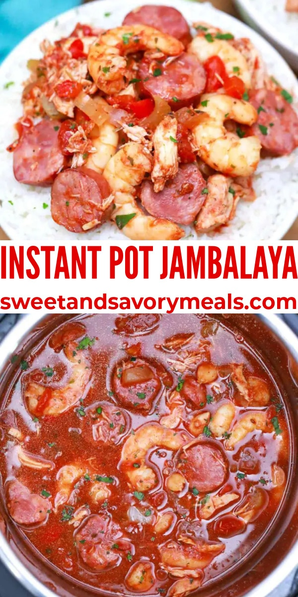 easy instant pot jambalaya pin