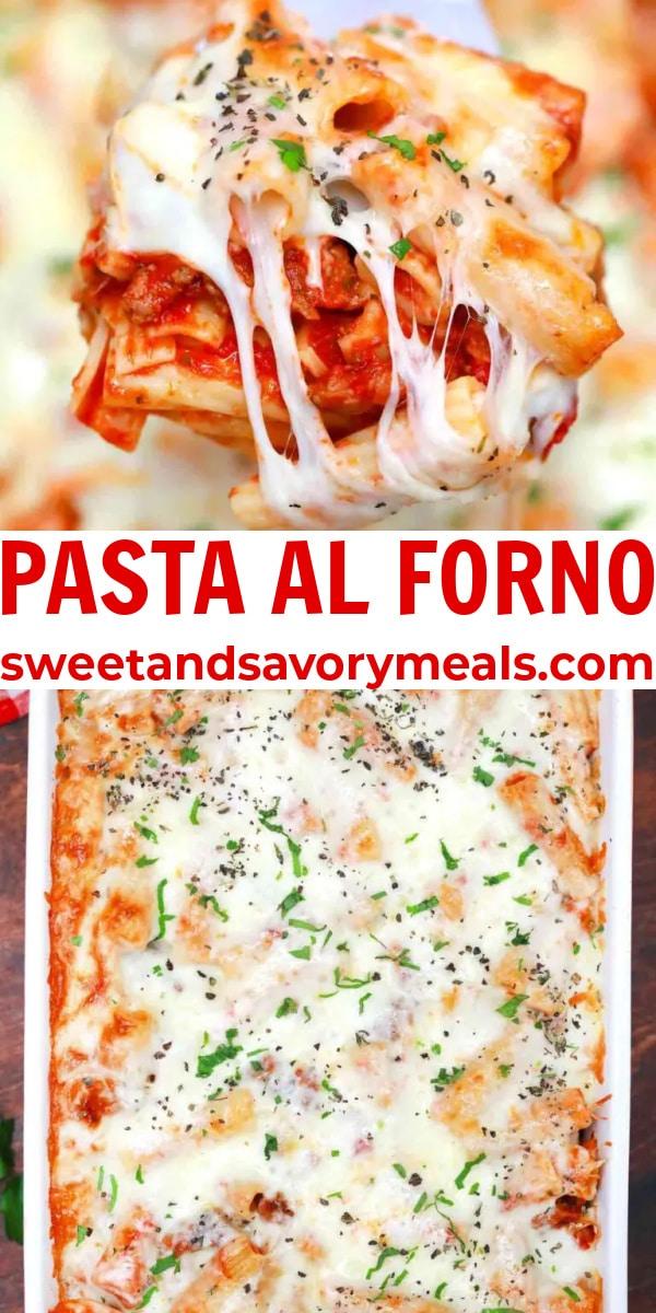 easy pasta al forno pin