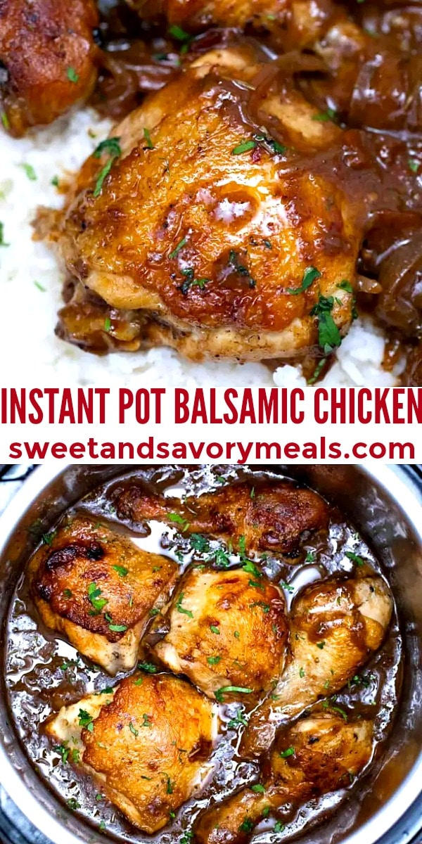 easy instant pot balsamic chicken pin