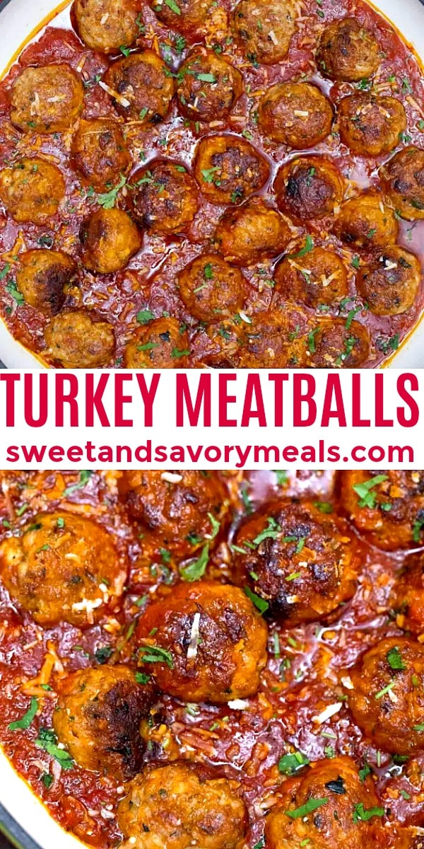 easy turkey meatballs pin