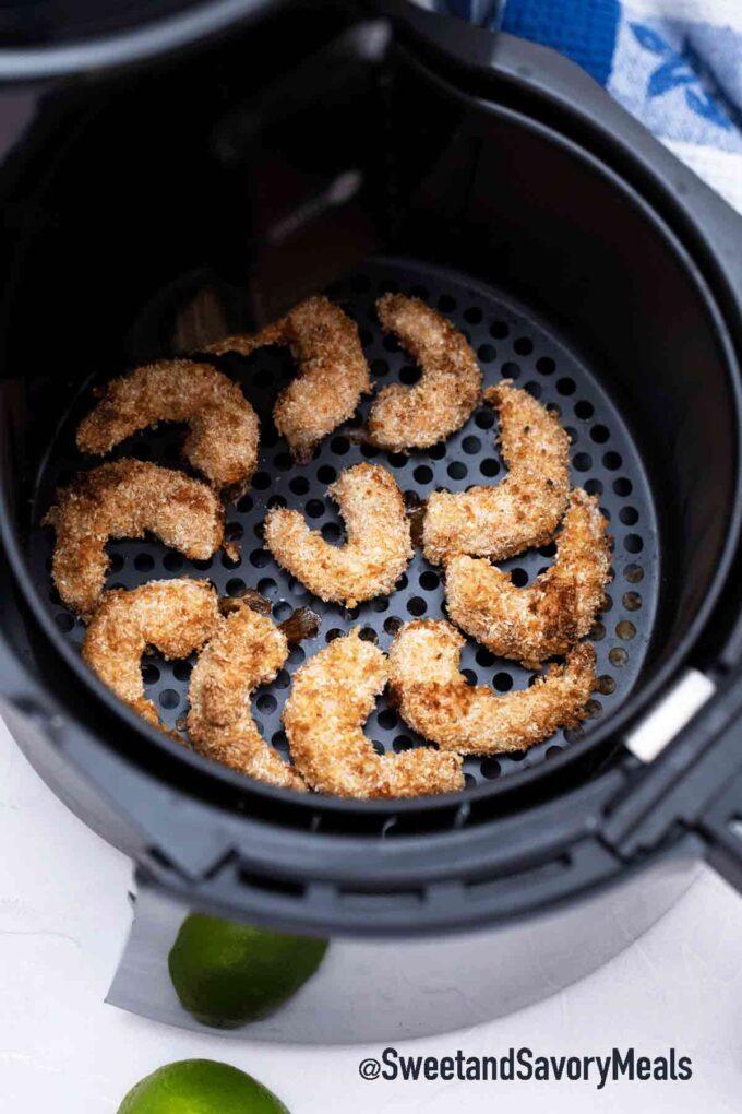 kochende Luftfritteuse Kokosgarnelen