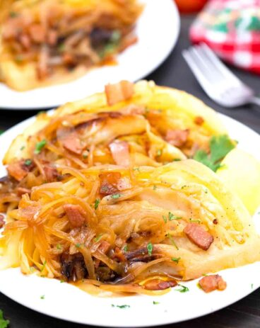 Apple Cider Braised Cabbage