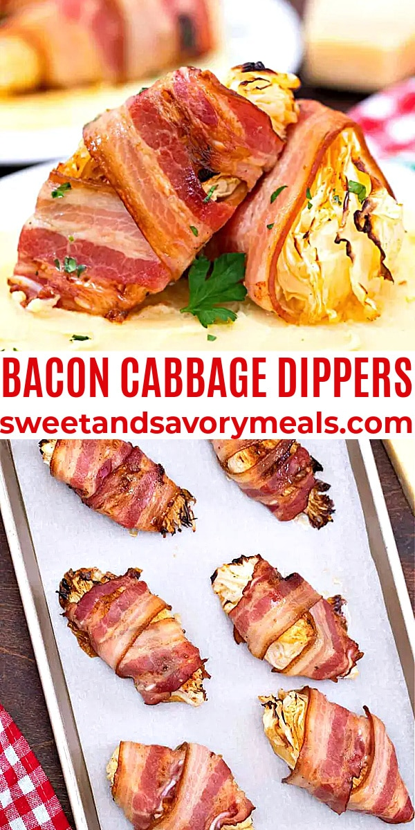 easy bacon cabbage dippers pin