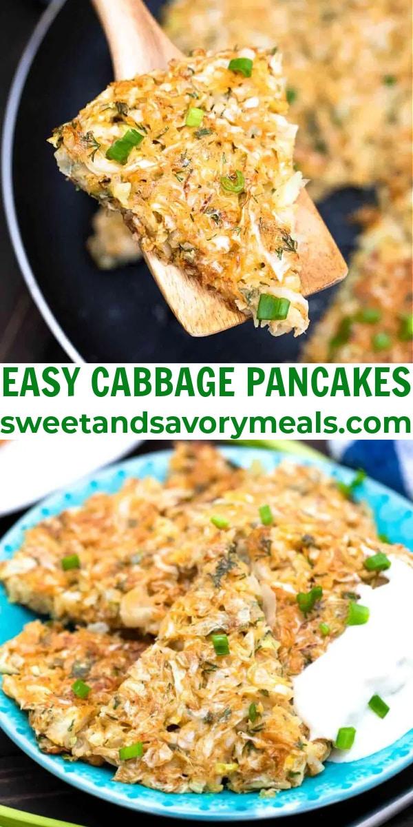 easy cabbage pancake pin
