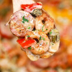 creamy cajun shrimp and sausage