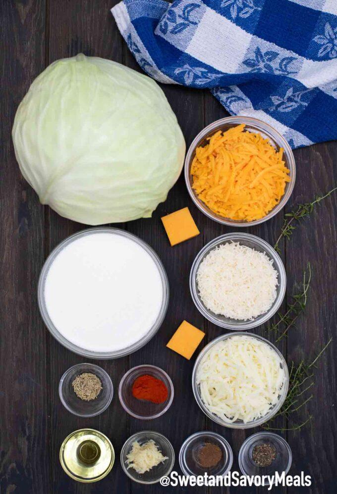 cabbage gratin ingredients