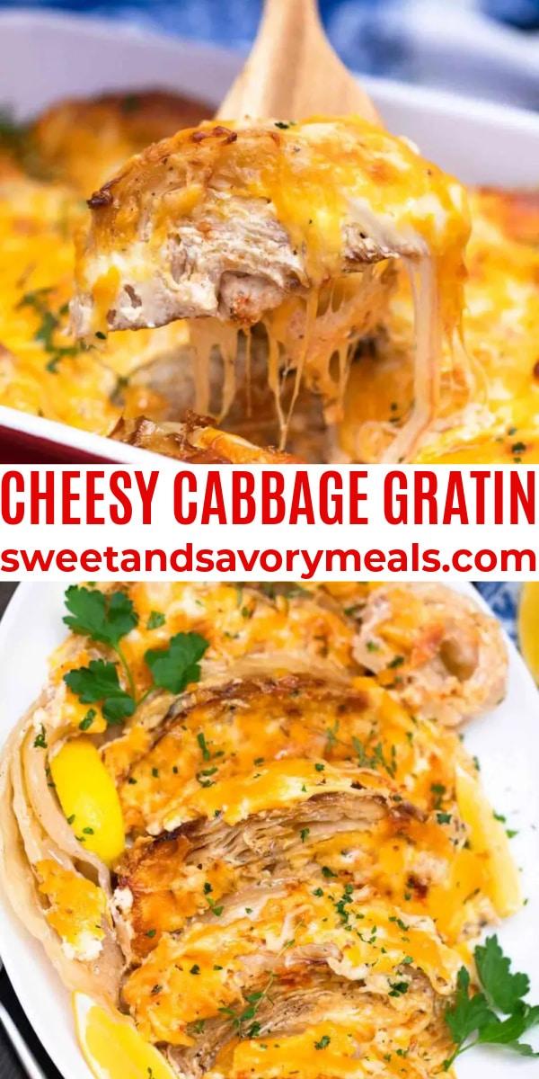 easy cheesy cabbage gratin pin