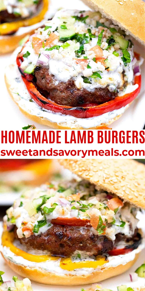 easy homemade lamb burgers collage
