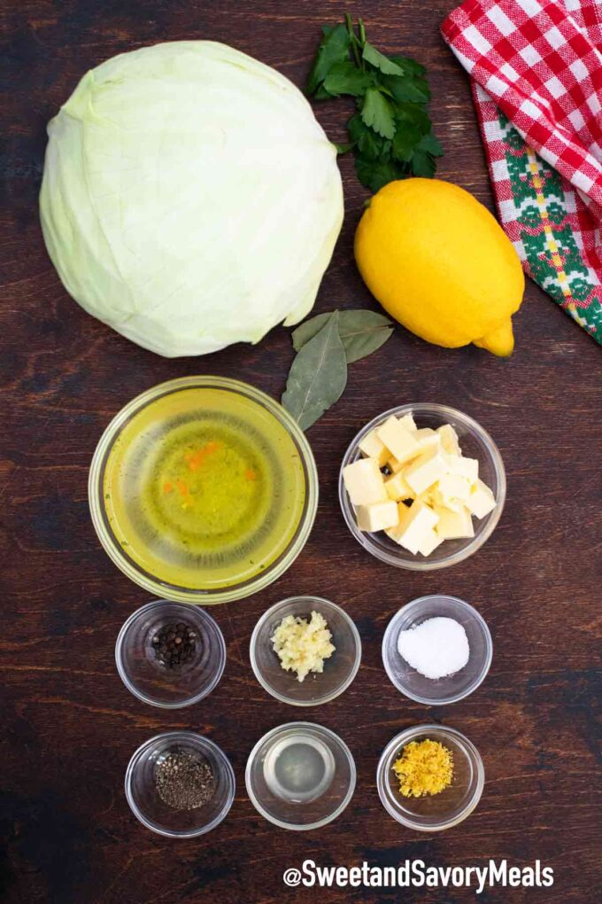 instant pot buttered cabbage ingredients