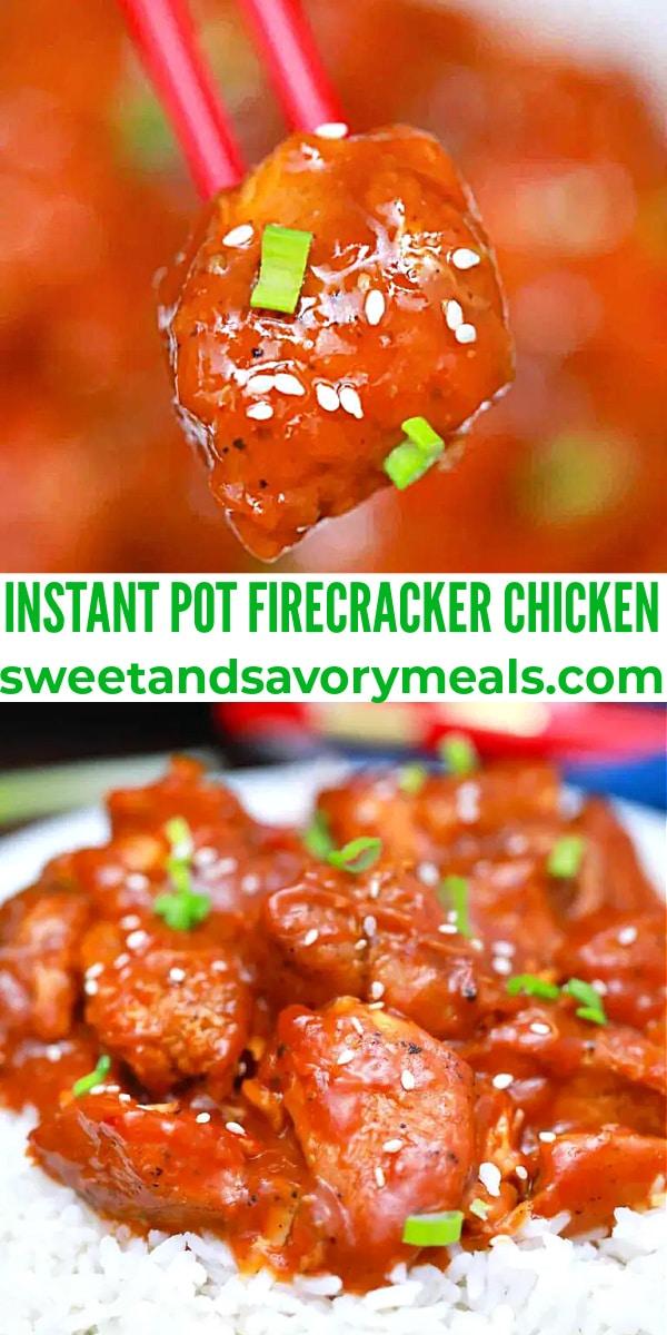 easy instant pot firecracker chicken pin