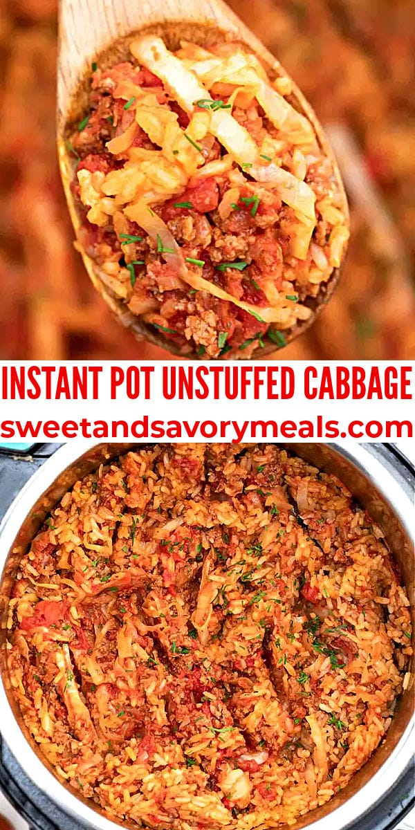 easy instant pot unstuffed cabbage pin
