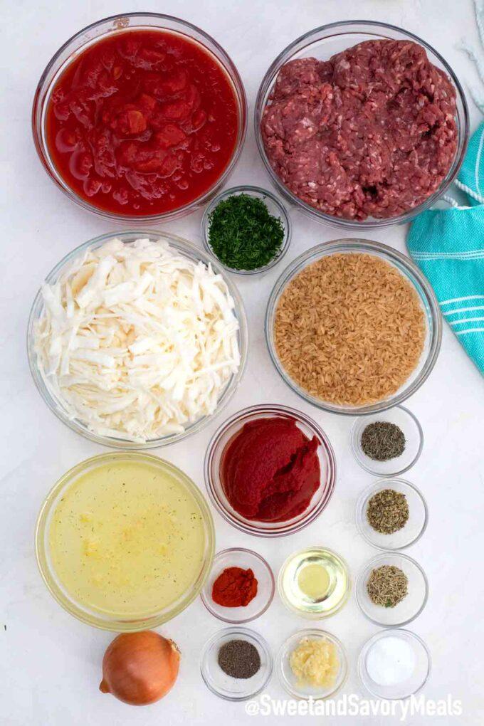 instant pot unstuffed cabbage rolls ingredients