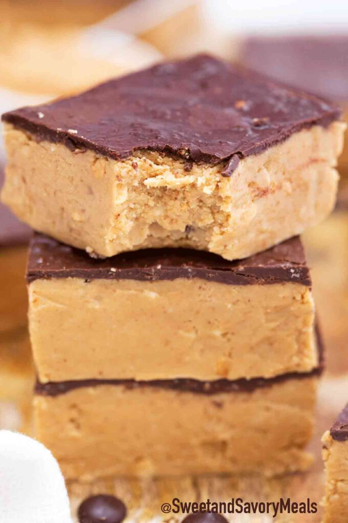 keto chocolate peanut butter bars
