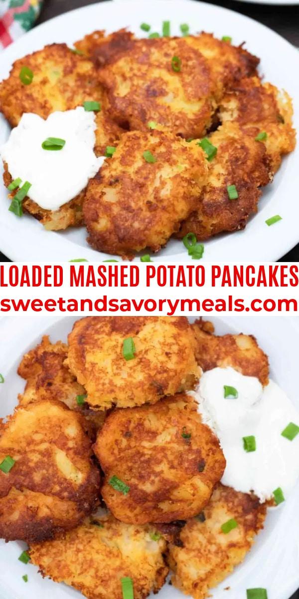 easy mashed potato pancakes pin
