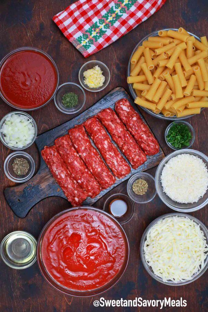 pasta al forno ingredients