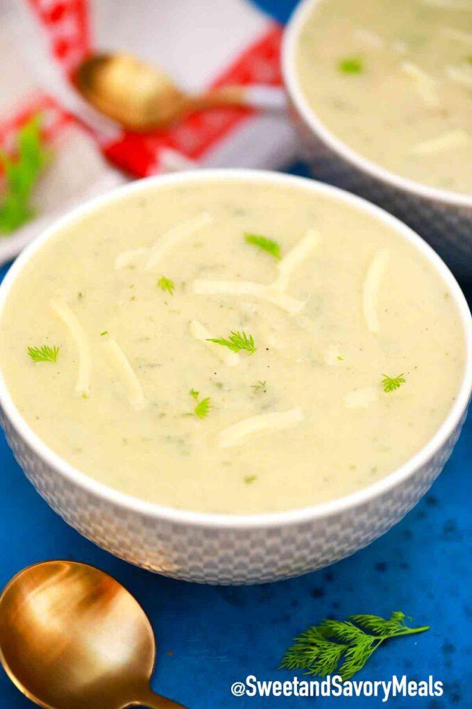 pressure cooker cauliflower soup