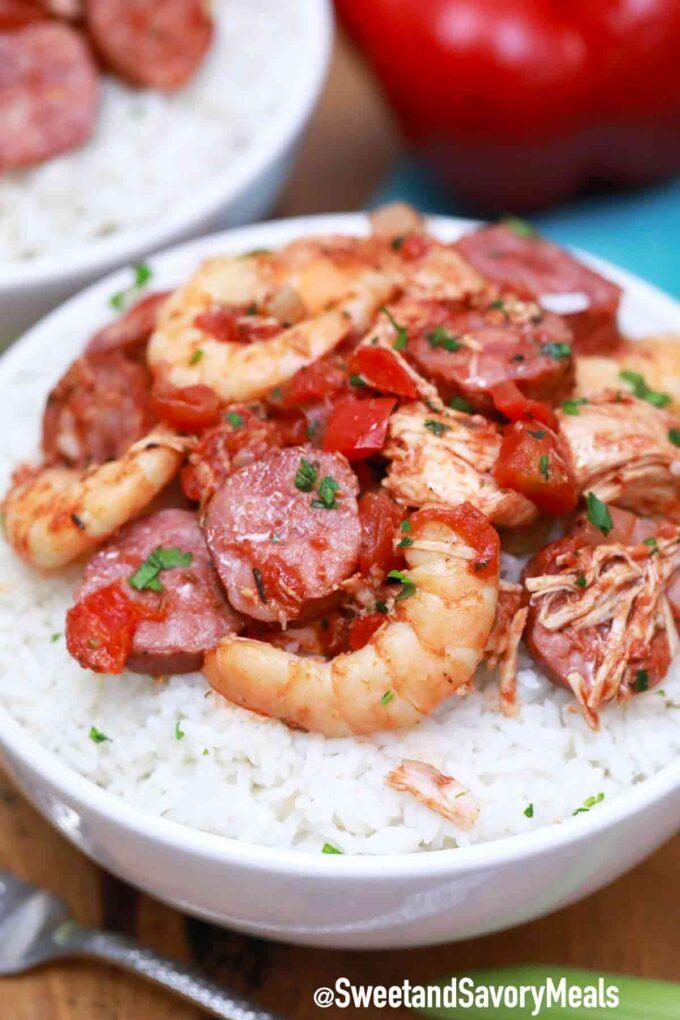instant pot jambalaya with shrimp