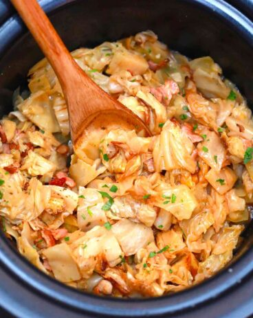 Slow Cooker Cabbage and Bacon