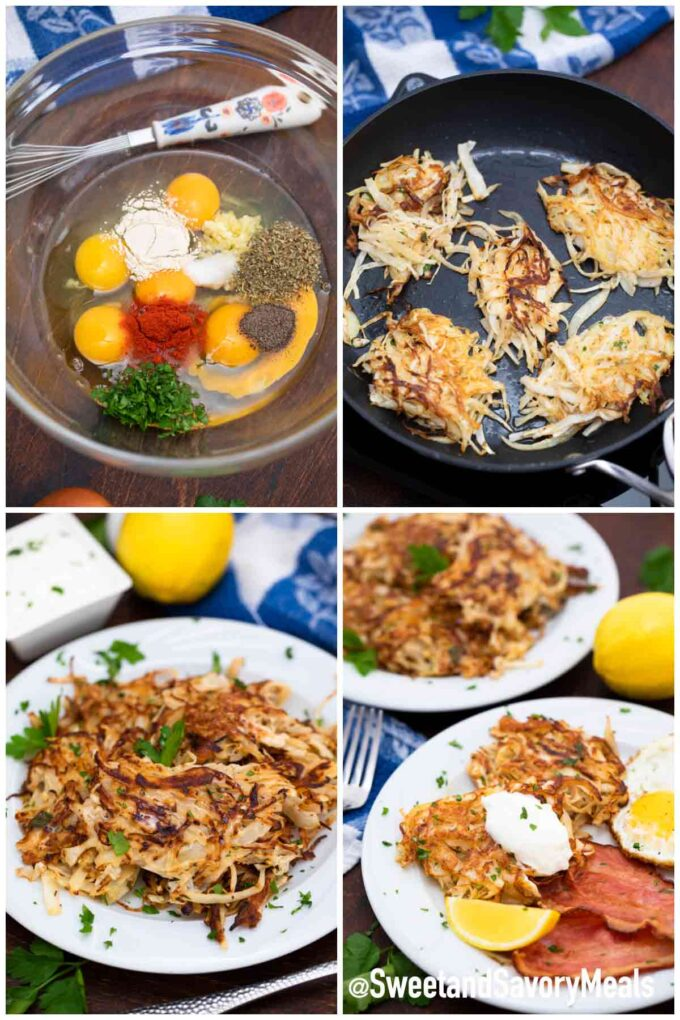 steps how to make cabbage hash browns