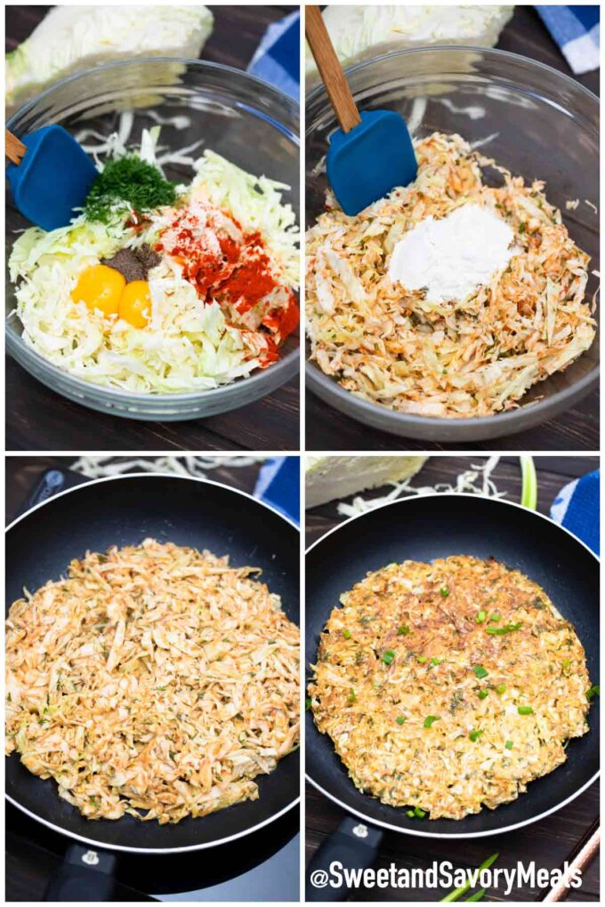 steps how to make cabbage pancake